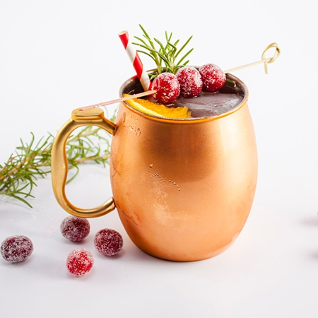 Strawberry Moscow Mule Cocktails