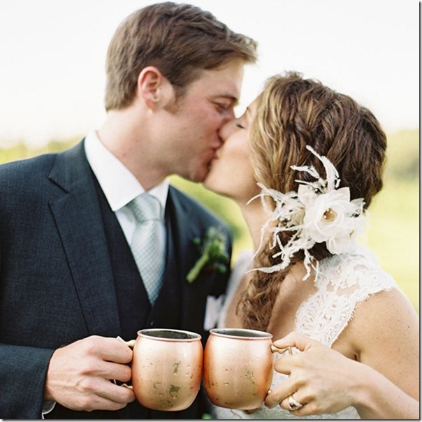 A new couple choose Moscow Mule for their wedding.